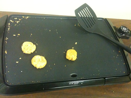 Falafel on the Griddle. . .what was left