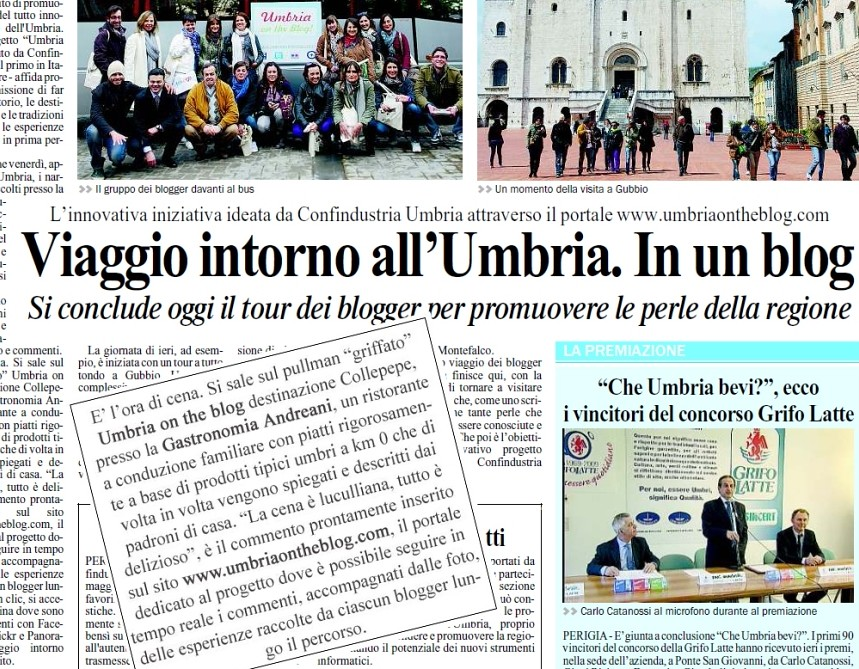Umbria on the blog - Il Giornale dell'Umbria