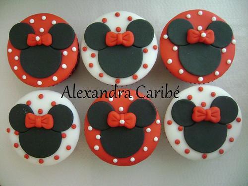 Cupcakes Minnie vermelha - Minnie Mouse cupcakes