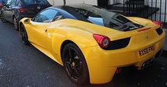 My Favourite 458 Italia (TommyTanker1988) Tags: london cars yellow canon chelsea italia ferrari giallo supercars 500d 458 worldcars tristato