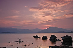 Millarochy Bay (jamest1982) Tags: sunset mountains speed landscape bay scotland shutter loch lomond lochlomond millarochy