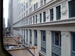 around the bend (randoymwalks) Tags: chicago architecture loop el goldblatts