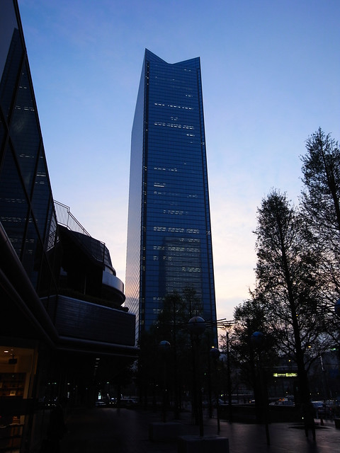 Evening Building