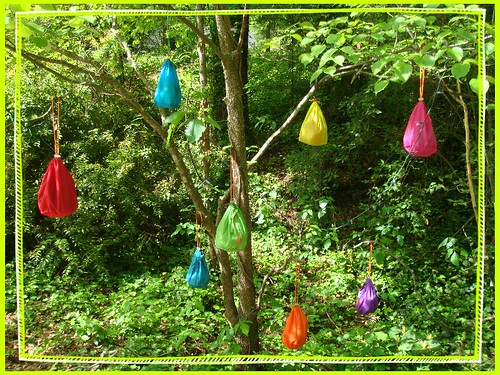 easter tree of sock bags!