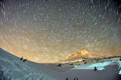 a stellar view (outabounds) Tags: snow mountains oregon stars star nikon mt pacific northwest trails palmer lodge glacier mount cascades mthood hood 1855mm cascade pnw startrails timberline d90 outabounds