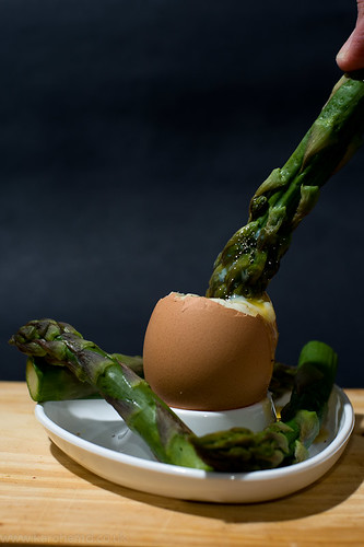 Soft-boiled Egg with Asparagus Soldiers