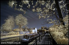 Lymm canalside, Cheshire UK Colour IR (Hotpix [LRPS] Hanx for 1.5M Views) Tags: camera uk red england hot color colour ir warrington pix village cheshire pics smith tony filter infra picks adapted lymm hotpix hotpics 720nm hotpicks tonysmithhotpix