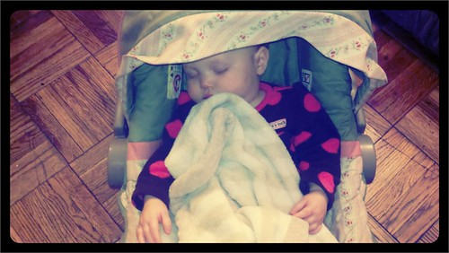 My sweet niece sleeping!