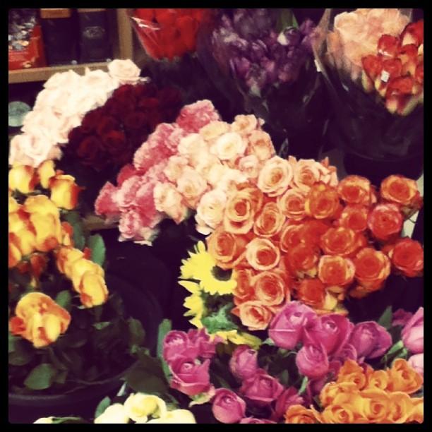 Fresh flowers. :)