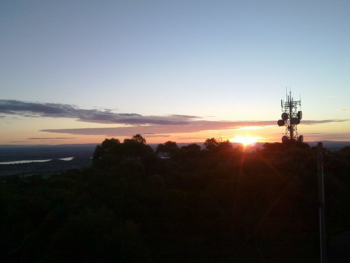 Sunset from Mount Tarrangower, Maldon
