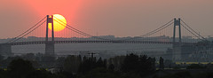 coucher-soleil-pont-tancarville (stephanelhote) Tags: sunset france pont normandie couchersoleil tancarville