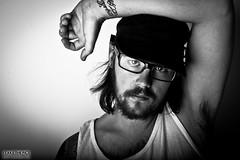 Self Portrait (itakethepics - UK Music Photographer) Tags: lighting portrait white black self phil safari softbox mcdougall lencarta itakethepics itakethepicscom