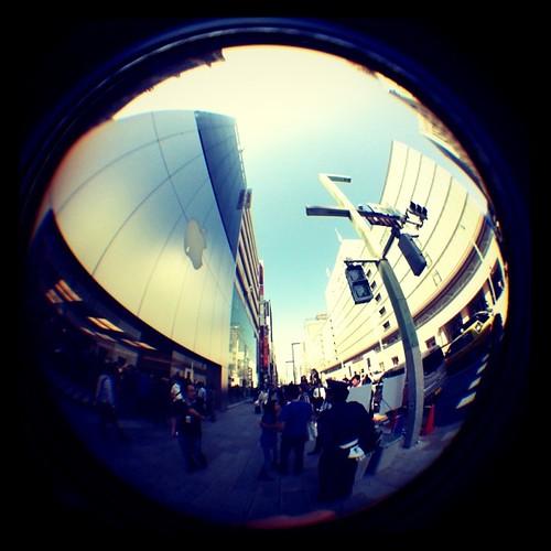 185°魚眼レンズさん #izawaopt #ksw4 #instagram