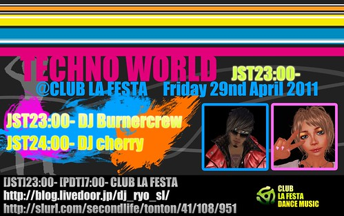 TECHNO WORLD@CLUB LA FESTA 20110429