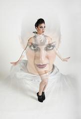 (Kayla Clements) Tags: girl fashion female photoshop magazine spread robot model nikon retro future editorial futuristic blend