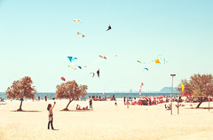 De Cometer Ojal Cometas (Ibai Acevedo) Tags: barcelona sea sky sun beach girl mar places playa viento virtual cielo masnou cometas 347 celestes nonrelated