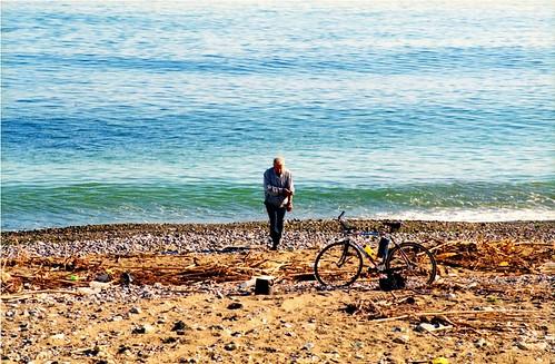 Ciclista alla Playa