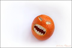 Angry Orange (Richard Cowdrey) Tags: orange fruit canon eos calm angry temper 400d richardcowdrey