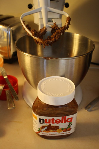 nutella cookies baking