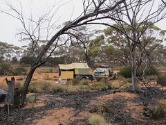 Scruby camp site near Southern Hills station Fraser Range (spelio) Tags: travel camp west set good framed favorites australia favourites wa outback smoky favs scruby nullarbor 2011