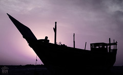 Boat (Rawan Mohammad ..) Tags: old silhouette clouds photography boat nikon photographer purple photos australia brisbane mohammed saudi arabia tamron mohammad rn  2011 qatif rawan        d300s rnona     almuteeb