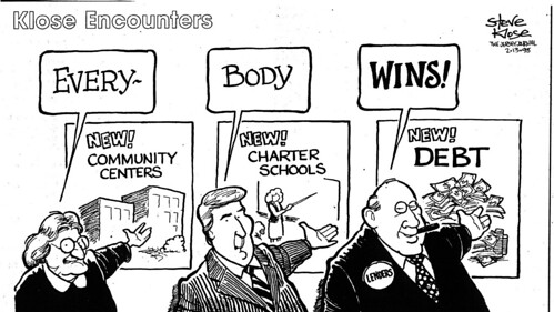 Charter-School editorial cartoon