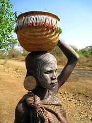 Mursi Tribe (Give-on) Tags: africa omovalley ethiopia tribe mursi mygearandme lpoverhead