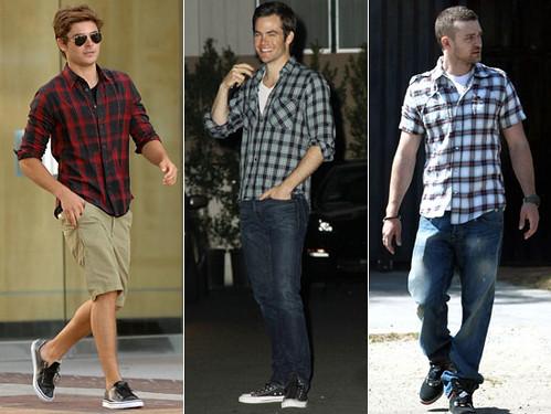 camisas xadrez masculinas