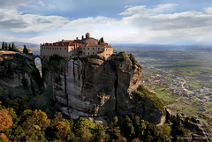 METEORA MONASTERY OF AGIOS STEFANOS  (METEORA - CENTRAL GREECE) (KAROLOS TRIVIZAS) Tags: church rocks greece monastery monks monoliths meteora digitalcameraclub geologicalphenomenon blinkagain