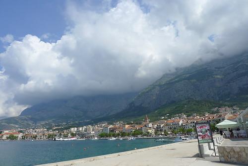 Cloudy Biokovo leaning over Makarska