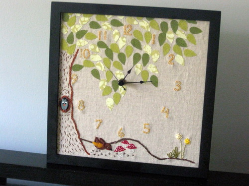 Woodland Clock from Sew Liberated