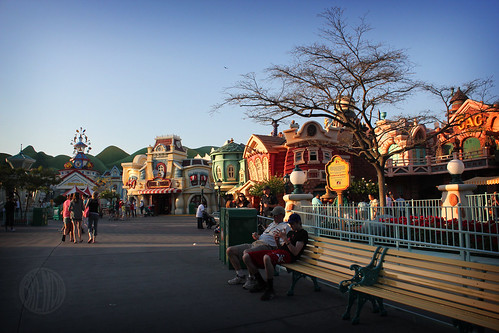 Toontown at sunset
