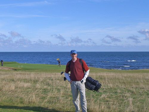 Erik at Balcomie Links