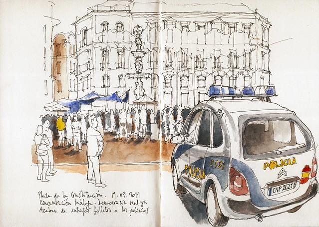 Málaga, concentración 15m