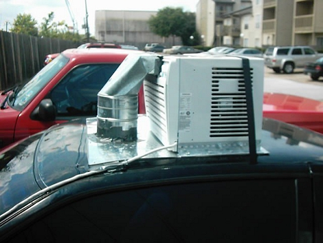 aircon on a car roof