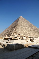 Pyramid of Khufu, Giza, Egypt (inchiki tour) Tags: africa travel photo ancient pyramid great egypt picture middleeast unesco cairo arab egyptian  giza necropolis worldheritage khufu