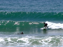 Surfing at St Ouens
