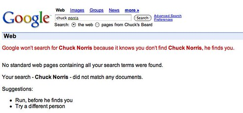 chuck norris google search on 5-30-11