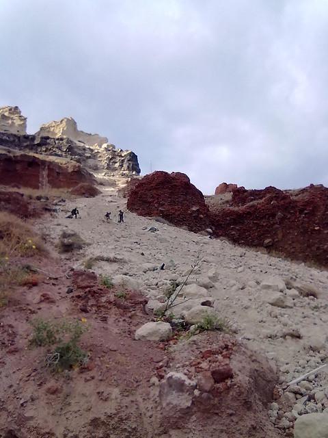 Landslide in Oia