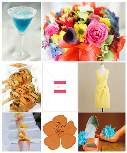 Bold Tropical Wedding