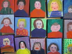 Wee portraits (maureencrosbie) Tags: portrait paint acrylic canvas childrensart newtyle