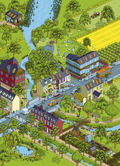 DEFRA Natural Environment White Paper - ecosystem services illustration (Rod Hunt Illustration) Tags: city houses homes house green art home nature illustration countryside town community vectorart village illustrated country diversity diagram pixel pixelart land government illustrator information towns vector communities isometric sustainable sustainability ecosystem biodiversity informationgraphics whitepaper ecosystems naturalenvironment defra vectorillustration ukgovernment isometricillustration rodhunt greeneconomy naturalenvironmentwhitepaper