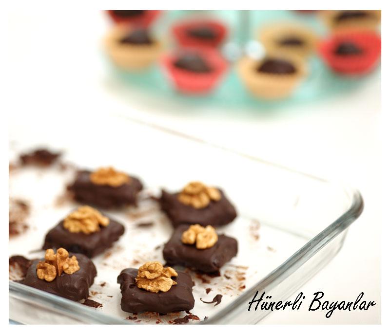 Cevizli Çikolata Truf (walnut chocolate truffles) 5