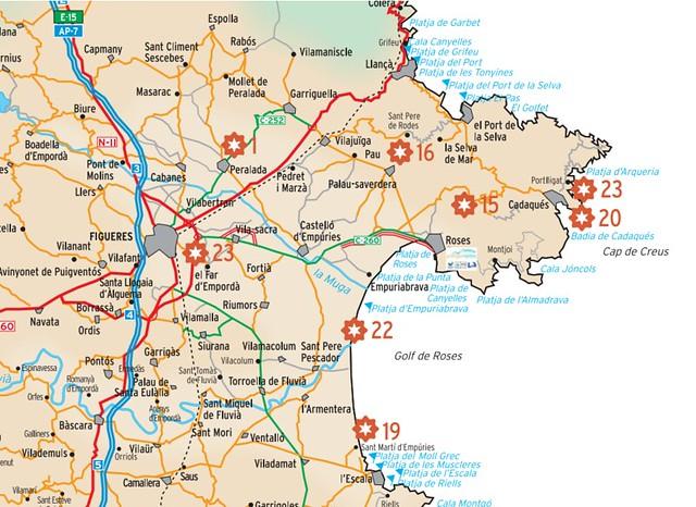 Mapa-Costa-Brava-Estrella-Dam