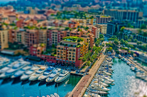 Experimental Tilt-Shift in Monaco