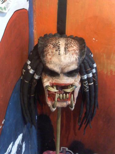 Las máscaras para la persona y el cabello de la avena triturada