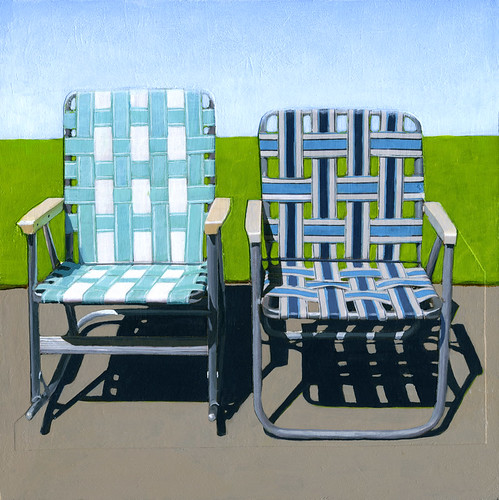 Summer Sitting (in Blues) - sold.