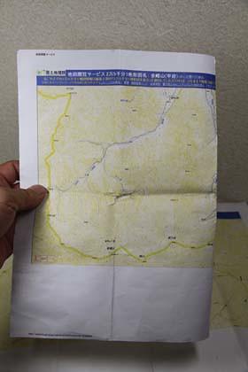 PX-5Vで印刷をした地図