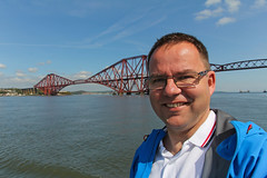 18/52 Forth Brigde (Meteorry) Tags: city uk urban selfportrait me water face scotland boat edinburgh europe ship autoportrait unitedkingdom fife steel railway moi forth april pont fjord lothians visage firthofforth forthbridge queensferry selfie cantilever 2014 dalmeny meteorry 52weeks cityofedinburgh johnfowler forthbelle perrytak dnideann benjaminbaker 52semaines forthtours