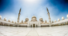 Sheikh Zayed Mosque (Ash if) Tags: sheikhzayedmosque mosque abudhabi structure blueskies blue summer august clouds dome